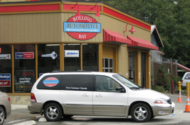 Rolling Bay Automotive's services include a free customer shuttle